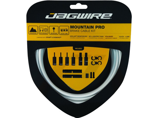 Jagwire Mountain Pro Brake Cable Kit white